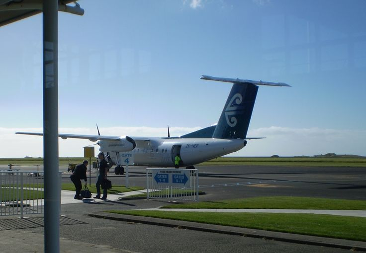 We flew in an Air New Zealand DHC-8 (Bombardier Q300) from New Plymouth to Auckland in 2008.