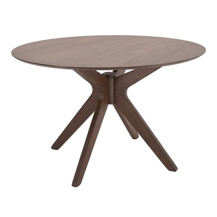 WOODEN TABLE IN BROWN COLOR 120X120X75 - Dinner Tables - FURNITURE
