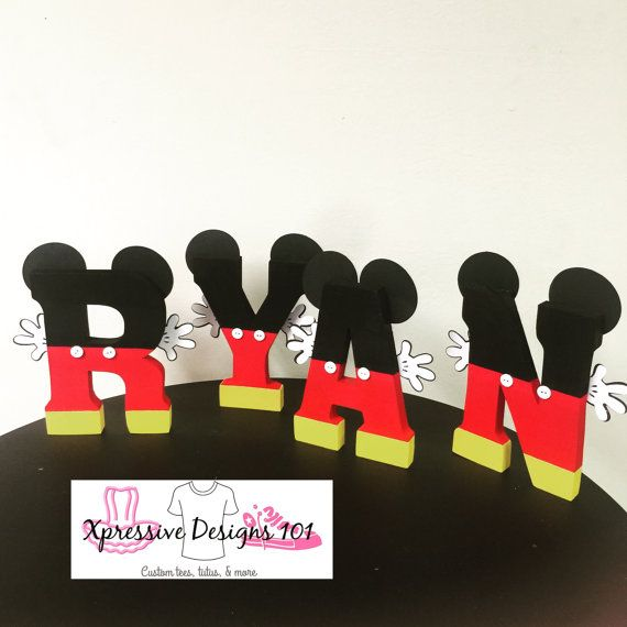 Mickey mouse letters price is per letter by XpressiveDesigns101