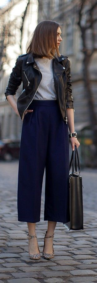 Street style. How to wear culottes.