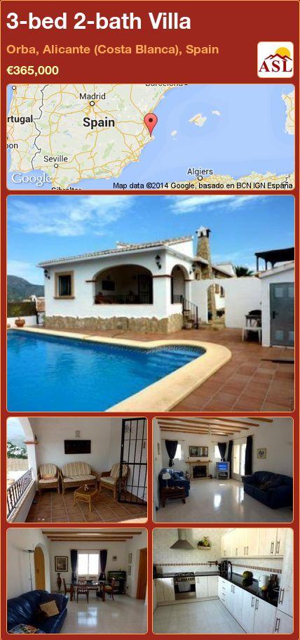 3-bed 2-bath Villa in Orba, Alicante (Costa Blanca), Spain ►€365,000 #PropertyForSaleInSpain