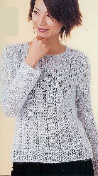 lady lace sweater knitted