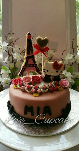 Parisian Hello Kitty Cake