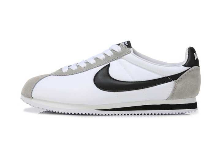 Best Selling Nike Classic Cortez Nylon Womens White Gray Black Trainers UK