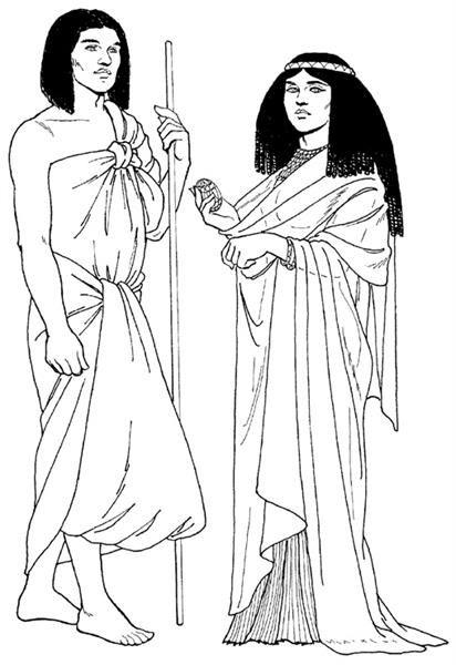 Древней египетский мужской костюм