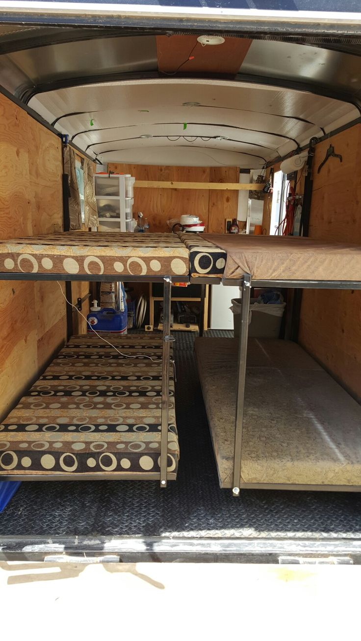 7 Best Cargo Trailer Rv Fold Up Bunk Beds Images On