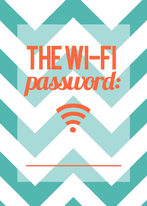 A really cute & clever way to let everyone who comes over know what your Wi-Fi password is! 5x7 image, pair it with a 5x7 frame!