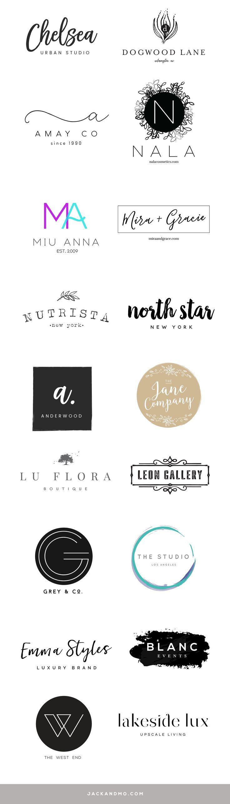 Modern minimalist pre-made logo designs | SO eas…