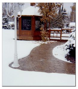 Solar Powered, Geothermal Heated Snowless Driveway and Walkway