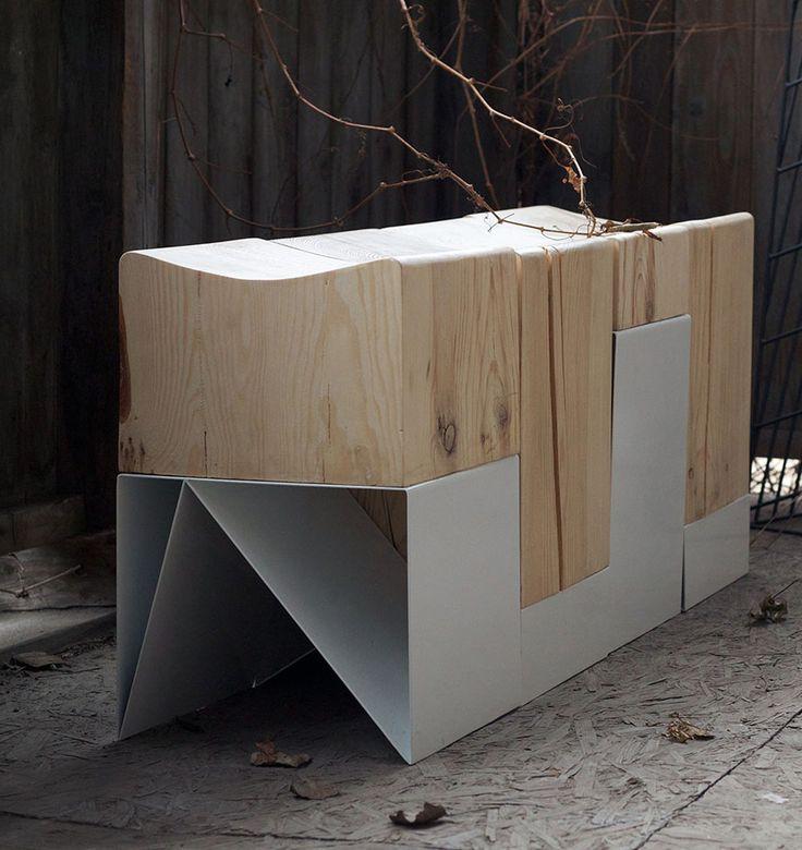 http://svoya-studio.com/?p=959 # furniture bench stool wood bent over triangle Structure white split metal
