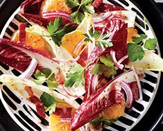 Radicchio & Endive Salad with Bacon Lardons & Clementines