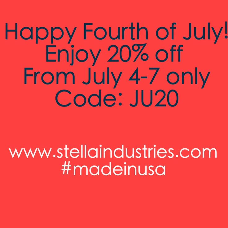 Fourth of July sale - 20% off site wide from July 4-7 2013 only. Code: JU20. #madeinusa #julysale #girlsclothing #girlsdresses #americanmade