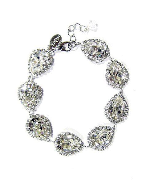 Ti Adoro-Pear Shaped Swarovski Crystal Bracelet [30610] - $215.00 : Bella Bleu Bridal, Couture Bridal | Bridal Jewelry | Wedding Accessories
