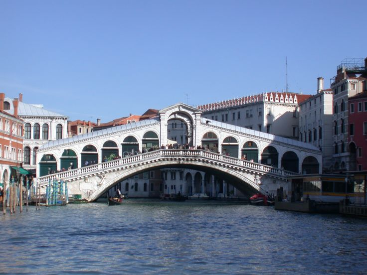 Was on this bridge when we traveled to Venice- beautiful - Rialto Bridge over the Grand Canal -The Rialto became an important district in 1097, when Venice's market moved there, and in the following century a boat bridge was set up across the Grand Canal providing access to it, then that was replaced by the Rialto Bridge.