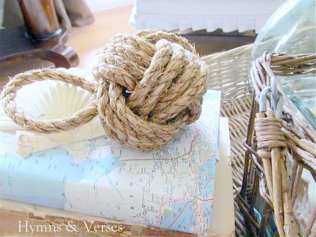 DIY Nautical Rope Paperweight/Doorstop | Hymns and Verses