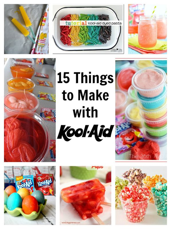 15 Things to Make with Kool-Aid - crafts and recipes! {poofycheeks}