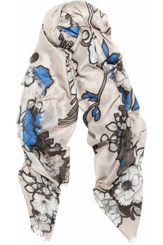 Scrapbook floral scarf by Christopher Kane.