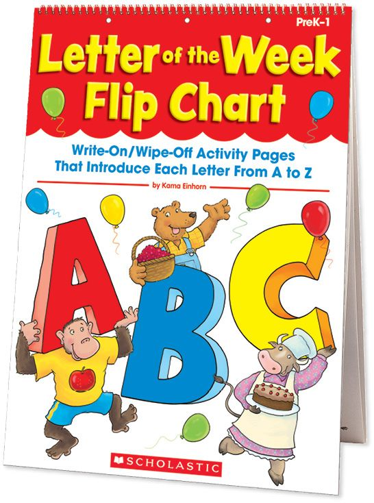Filled with instant alphabet activities that make learning the ABCs fun! Teach the shape and sound of each letter in an engaging format. Find the Letter of the Week Flip Chart in the Classroom Essentials Catalogue: OPUS 2143527 Page 111 See the pages here: http://scholastic.ca/clubs/cec/