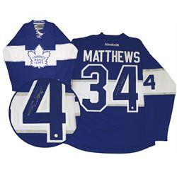 Matthews,A Signed Jersey Replica Leafs Blue Centennial Game