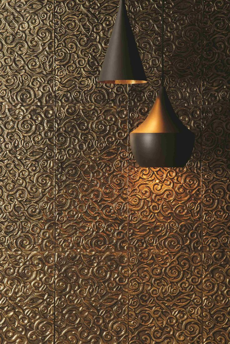 Tutankhamun decorative glass tiles are opulent and striking. Gorgeous gold to make a statement. From the Glassworks collection by Original Style.
