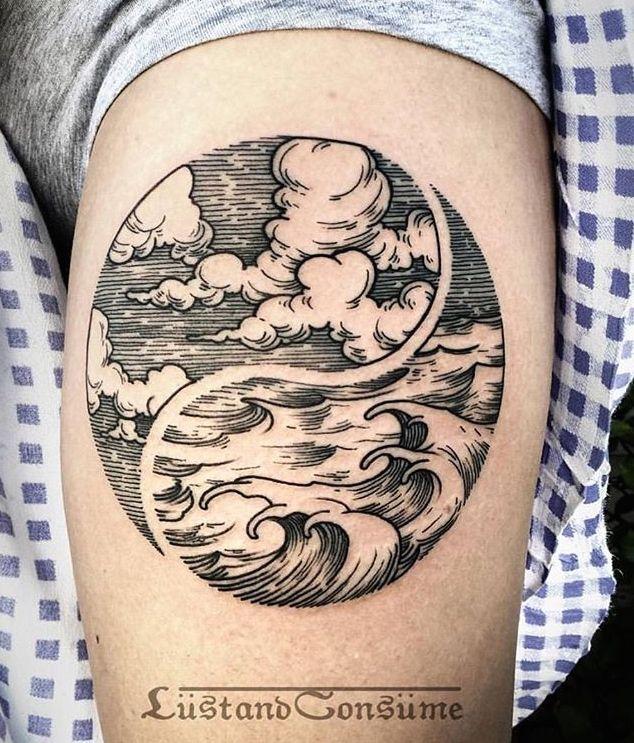 dotted tattoo clouds sunshine - Google zoeken
