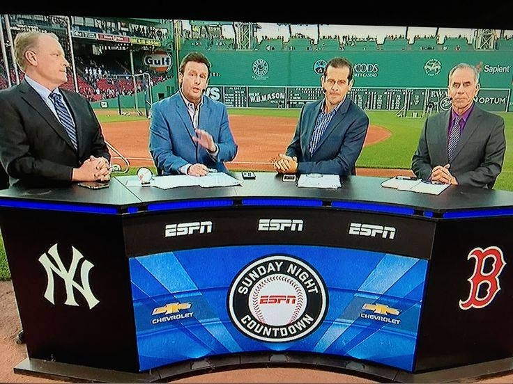ESPN Baseball Tonight with Curt Schillings, Karl Ravish, Aaron Boone and Tim Kurkjian from Boston, MA