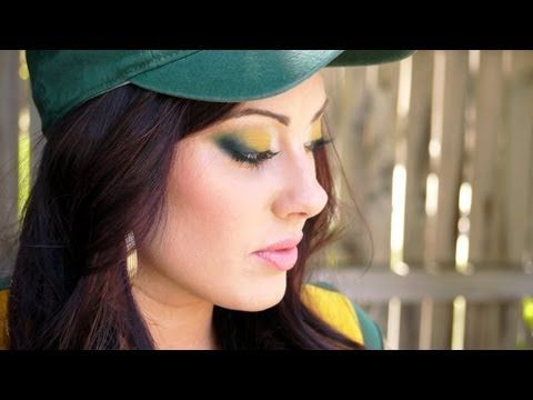 Green Bay Packer Makeup - step by step video. Obviously I will be switching out the colors to FSU's.