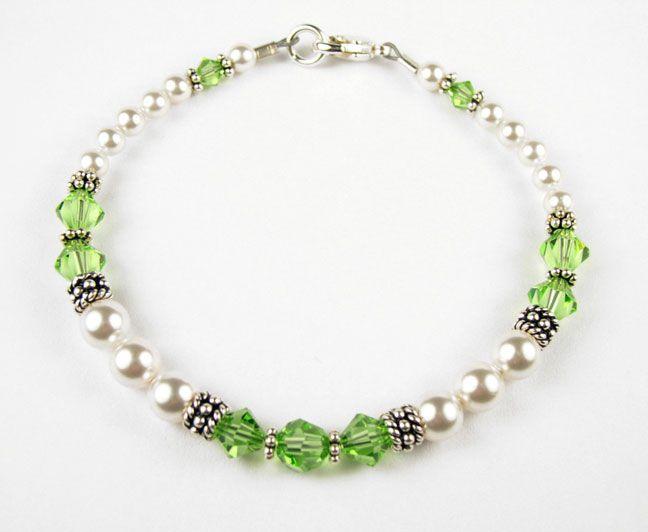 Birthstone Bracelets: Handmade Swarovski Crystal Birthstone Beaded Bracelets