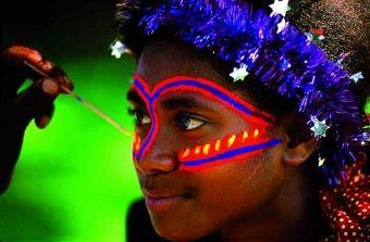 Vanuatu tribal paint - from the Island of Tanna.