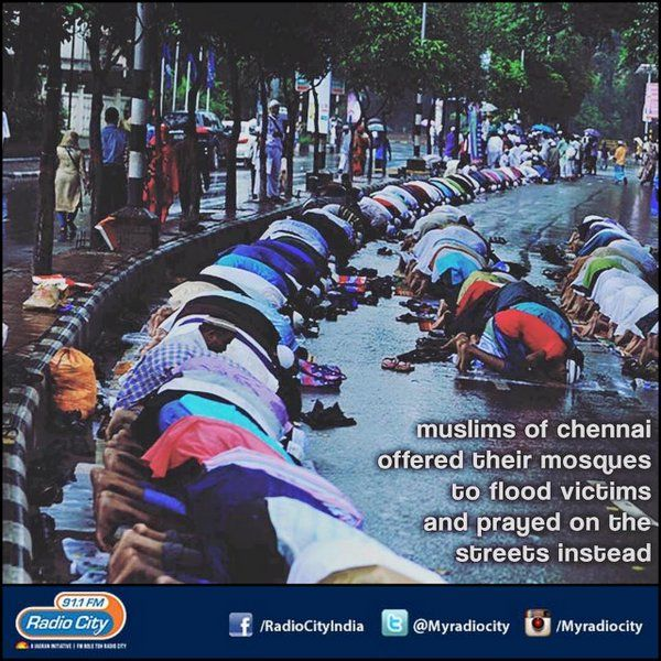 During the current chennai floods in India