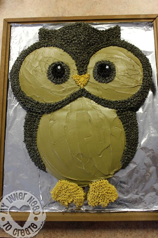 owl baby shower cakes | Owl Cake made from Round Cake Pans