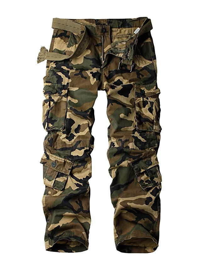 dad63a0c5f5 AKARMY Women s Casual Loose Fit Camouflage Multi Pockets Cargo Pants at  Amazon Women s Clothing store