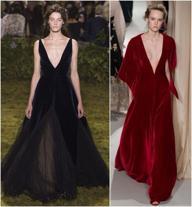 Os vestidos de veludo são ótimos para usar no inverno durante festas vestidos de veludo em festas. Abuse dos decores e fendas no estilo