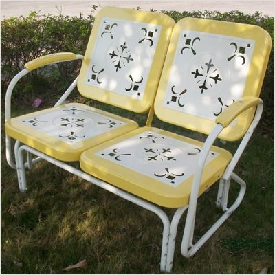 Yellow Retro Glider-  I love this...Just like the one my Grandma and Grandpa had at the farm when I was a kid!