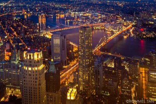 Manhattan from above by Rommel Tan - New York City Feelings