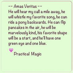 """Moon Movie Practical Magic Quotes. I hate the fact that """"star"""" has been misspelled....ocd...."""
