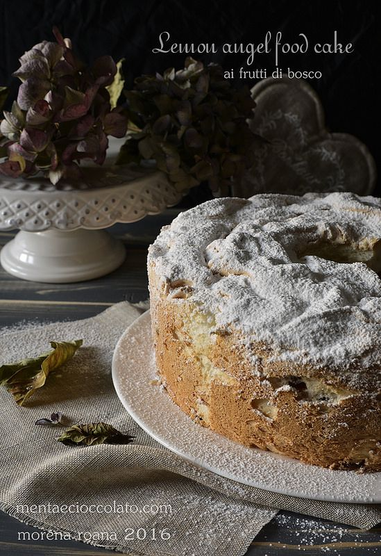 Menta e Cioccolato: Lemon Angel food cake ai frutti di bosco all'Italiana #cake #angel #lemon