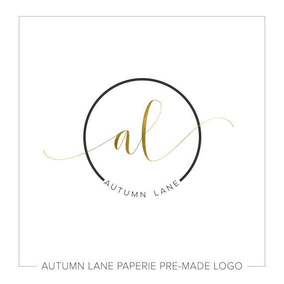 Logo ontwerp premade | Initials Logo | Fotografie Logo | Shabby chique Logo | Watermerk | Etsy Branding | Branding pakket