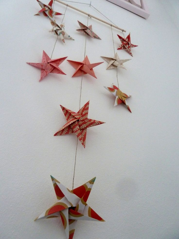 1000 id es sur le th me no l en or sur pinterest arbres for Decoration murale origami