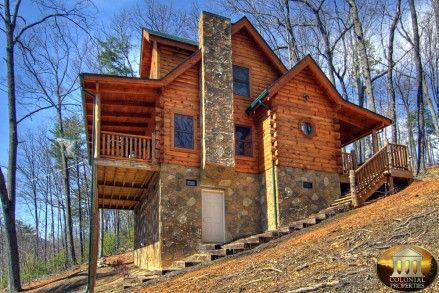 Smoky Mountain Cabins for Rent in Gatlinburg and Pigeon Forge TN---a star above