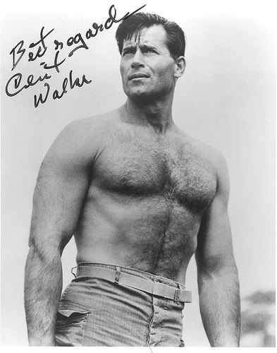 "Clint Walker:  Famous western movie actor, standing 6'5"". Many say his either was or should be a source reference for Superman.  Some artists have admitted on forums they use his likeness as a source reference"