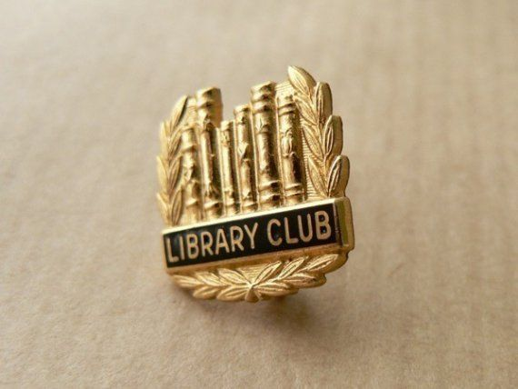 Vintage library club pin by windowsill on Etsy