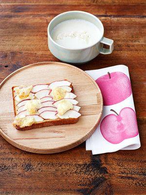 【ELLE a table】りんごカマンベールトーストとカリフラワーポタージュレシピ|エル・オンライン
