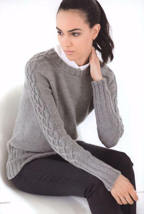 свитер с плечами погонами