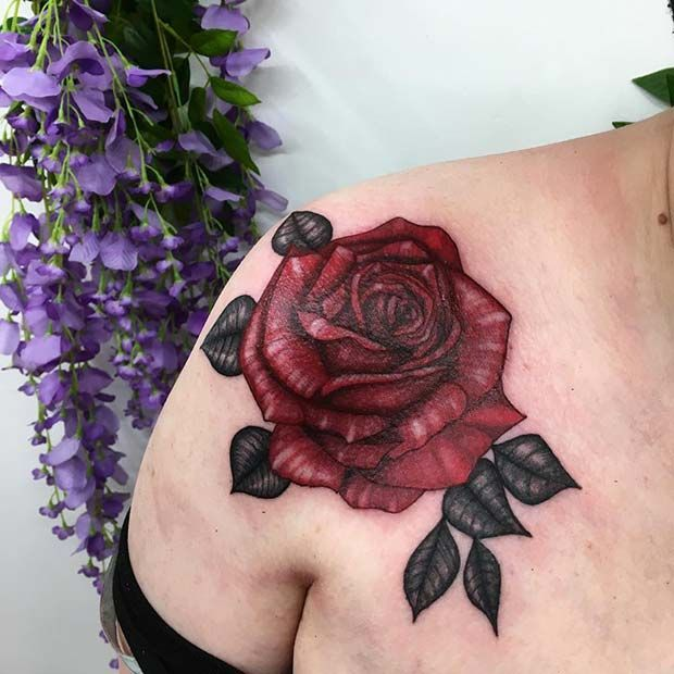 21 Rose Shoulder Tattoo-Ideen für Frauen