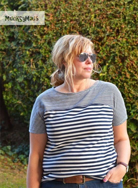 Schnittmuster / Ebook lillesol women No.28 Frühlingsshirt / Nähen Shirt / Sewin pattern shirt