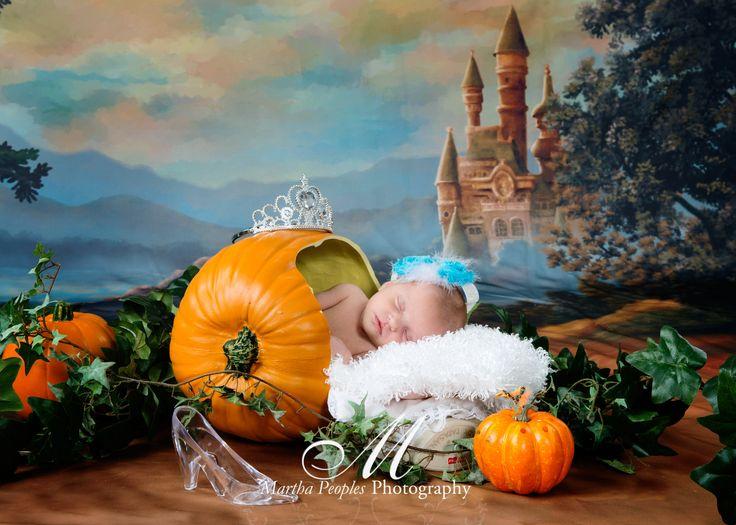 Disney inspired newborn photography Cinderella