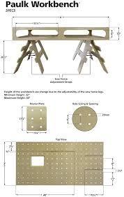 Image result for paulk workbench dimensions