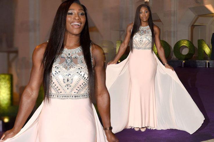 Stunning Serena Williams leads stars at Wimbledon Champions' Dinner in floor-length cream dress - 3am & Mirror Online