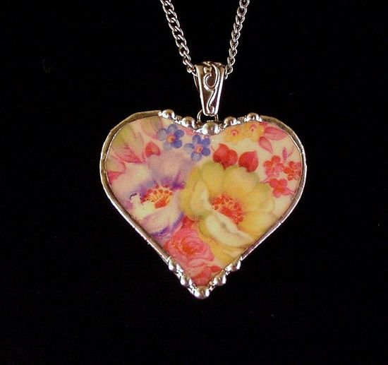 Craft old broken jewelry idea craft ideas crafts for Craft ideas for old dishes